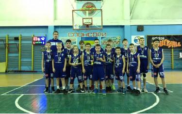Самые младшие баскетболисты нашего клуба  2009-2010 г.р. Приняли участие в новогоднем турнире