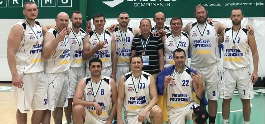 Команда БК «Поляков-Политехник» стала бронзовым призером чемпионата мира по максибаскетболу в Финляндии